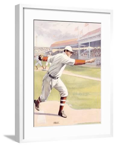 Pitcher at the Mound, Strike One--Framed Art Print