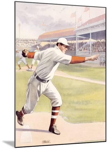 Pitcher at the Mound, Strike One--Mounted Giclee Print