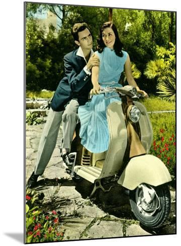 Vespa Piaggio Romance--Mounted Giclee Print