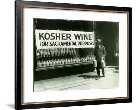 New York City, Kosher Wine--Framed Art Print