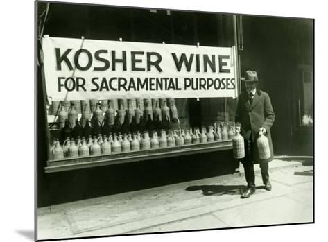 New York City, Kosher Wine--Mounted Giclee Print