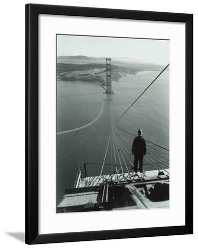 San Francisco, Golden Gate Bridge Construction--Framed Art Print