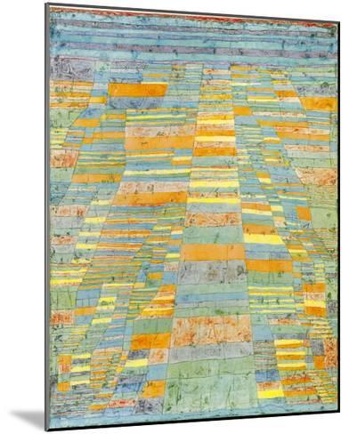 Primary Route and Bypasses, c.1929-Paul Klee-Mounted Art Print