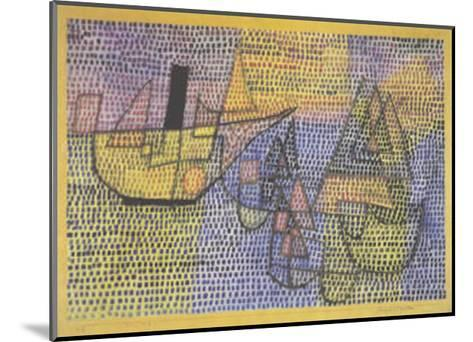 Steamboat and Sailing Boats, c.1931-Paul Klee-Mounted Art Print