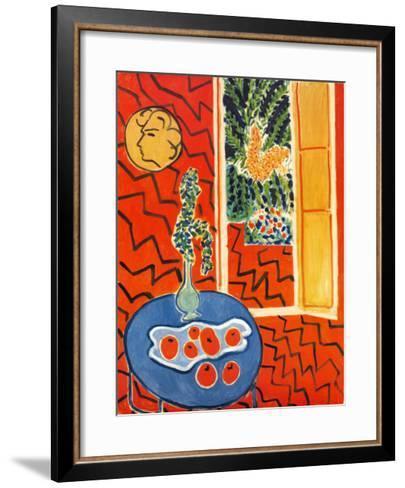 Red Interior, Still Life on Blue Table, c.1947-Henri Matisse-Framed Art Print