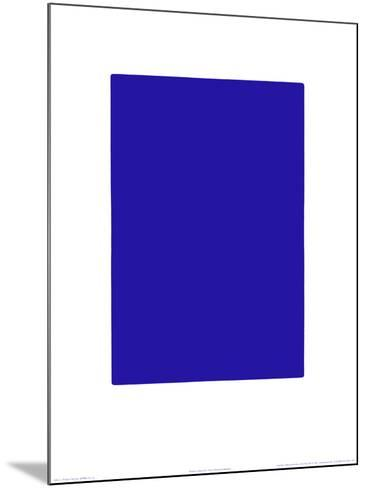 Untitled, Blue Monochrome, c.1961 (IKB73)-Yves Klein-Mounted Serigraph