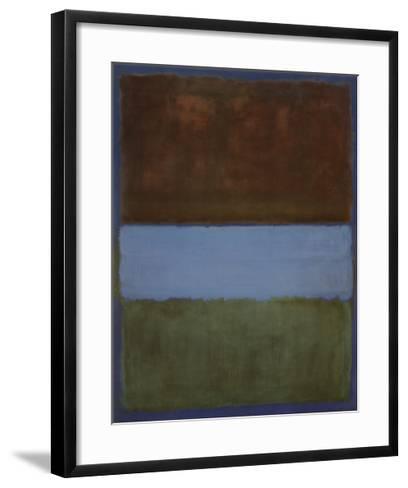 No. 61 (Brown, Blue, Brown on Blue), c.1953-Mark Rothko-Framed Art Print