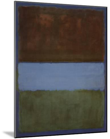 No. 61 (Brown, Blue, Brown on Blue), c.1953-Mark Rothko-Mounted Art Print