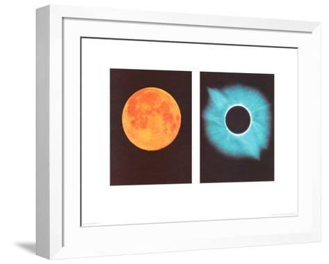 Full Moon/Total Solar Eclipse, July 11, 1991-Shigemi Numazawa-Framed Art Print