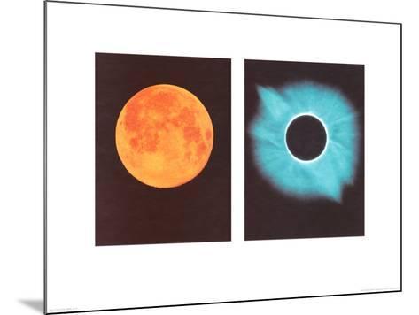 Full Moon/Total Solar Eclipse, July 11, 1991-Shigemi Numazawa-Mounted Art Print