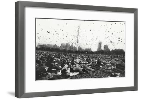 Peace Demonstration, Central Park, New York, c.1970-Garry Winogrand-Framed Art Print