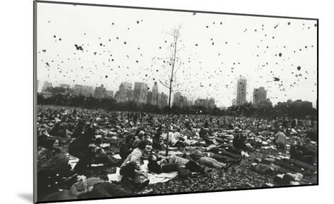 Peace Demonstration, Central Park, New York, c.1970-Garry Winogrand-Mounted Art Print
