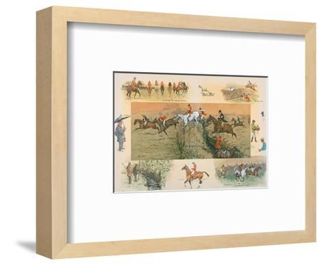 An Irish Point to Point-Snaffles-Framed Art Print