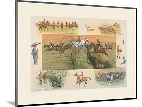 An Irish Point to Point-Snaffles-Mounted Giclee Print