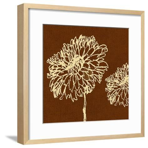 Chrysanthemum Square III-Alice Buckingham-Framed Art Print