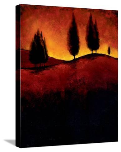 Vermillion Pastoral III-J^ Molando-Stretched Canvas Print