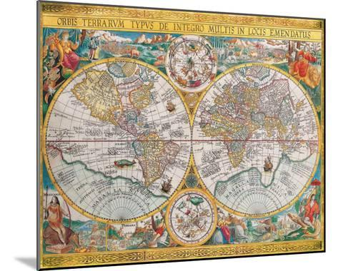 Antique Map, Orbis Terrarum, 1636-Jean Boisseau-Mounted Art Print