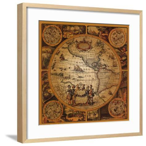 Antique Map, Cartographica II--Framed Art Print