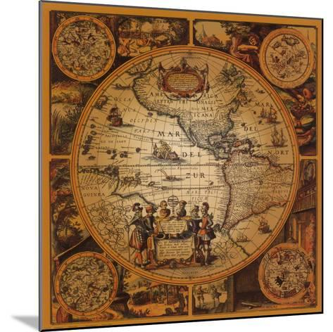 Antique Map, Cartographica II--Mounted Art Print