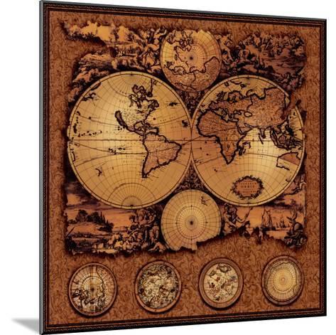 Antique Map, Cartographica III--Mounted Art Print