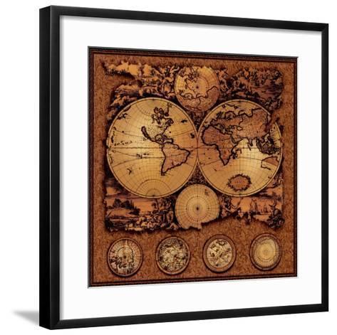 Antique Map, Cartographica III--Framed Art Print