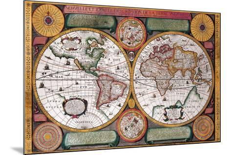 Antique Map, Terre Universelle, 1594-Petro Plancio-Mounted Art Print