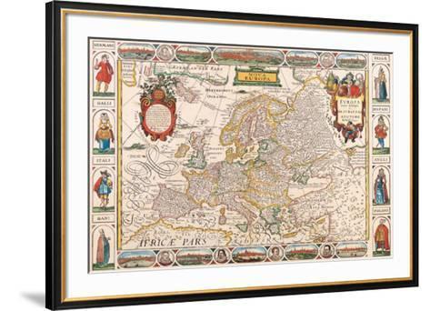 Antique Map, Nova Europa, 1652-Nicholas Visscher-Framed Art Print