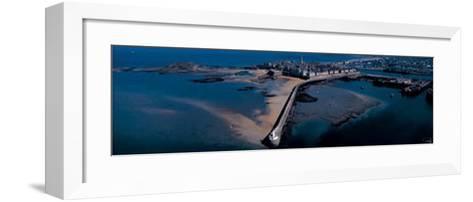 St. Malo, le Mole des Noirs-Philip Plisson-Framed Art Print