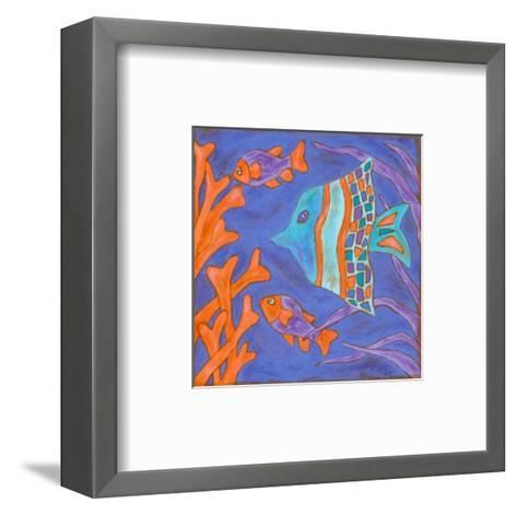 Pop Fish III-Nancy Slocum-Framed Art Print