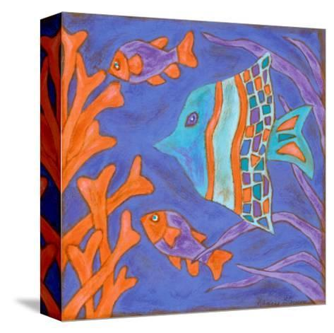 Pop Fish III-Nancy Slocum-Stretched Canvas Print
