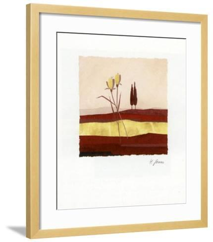 Concentration in Red II-Horst Jonas-Framed Art Print