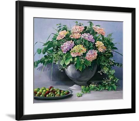 Flowers and Apples I-Karin Valk-Framed Art Print