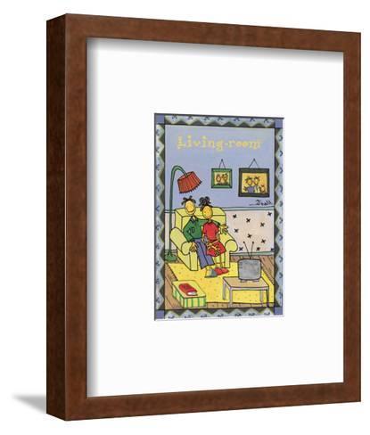 Rooms, Living Room-Marta Arnau-Framed Art Print