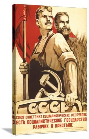 The Republic of Social Soviet, Union for Country and Urban Worker--Stretched Canvas Print