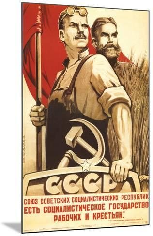 The Republic of Social Soviet, Union for Country and Urban Worker--Mounted Art Print