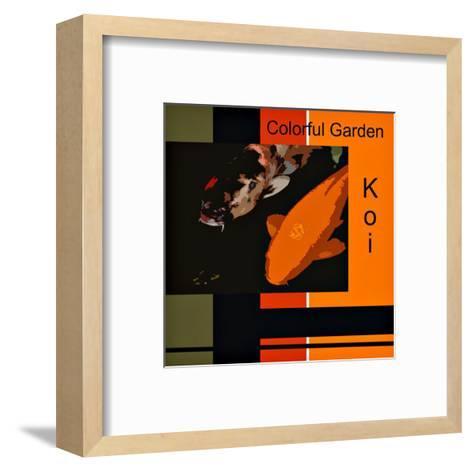 Colorful Garden Koi-erichan-Framed Art Print