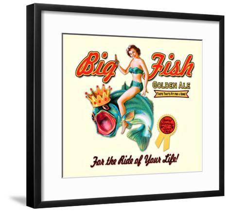 Big Fish Golden Ale--Framed Art Print