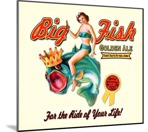 Big Fish Golden Ale--Mounted Giclee Print