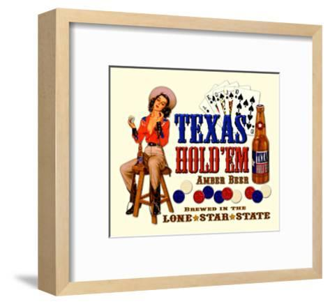 Texas Hold 'Em Amber Beer--Framed Art Print