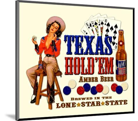 Texas Hold 'Em Amber Beer--Mounted Giclee Print