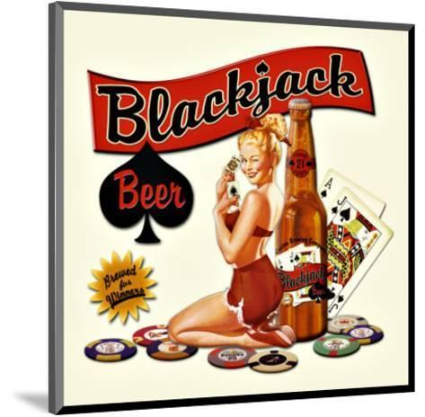 Blackjack Beer--Mounted Giclee Print
