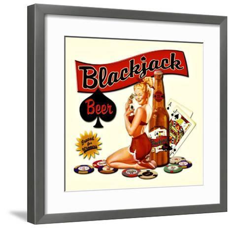 Blackjack Beer--Framed Art Print