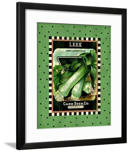 Leek Seed Pack--Framed Art Print