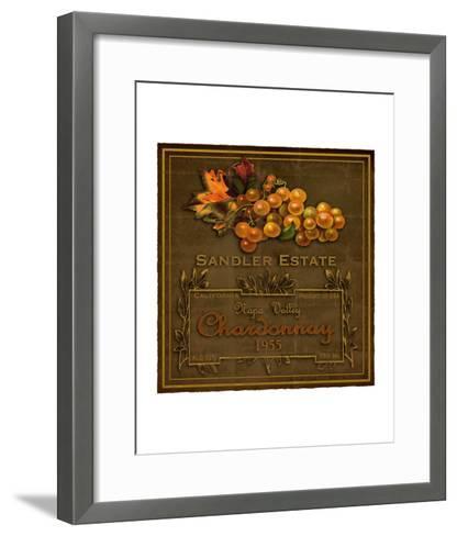 Chardonnay Wine Label--Framed Art Print