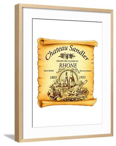 Rhone Wine Label--Framed Art Print