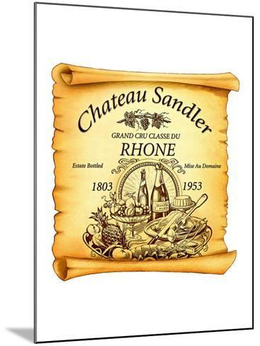 Rhone Wine Label--Mounted Giclee Print