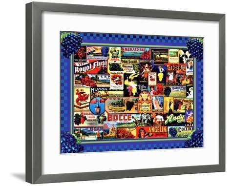 Vinyard Labels-Kate Ward Thacker-Framed Art Print