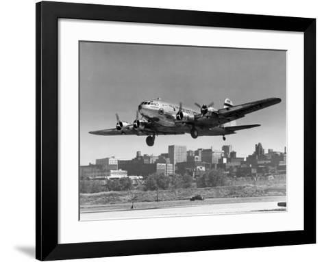 Boeing B-307 on Final Approach, 1940--Framed Art Print