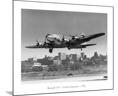 Boeing B-307 on Final Approach, 1940--Mounted Art Print