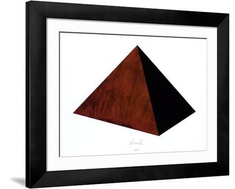 Pyramide Rost Schwarz-Juergen Freund-Framed Art Print